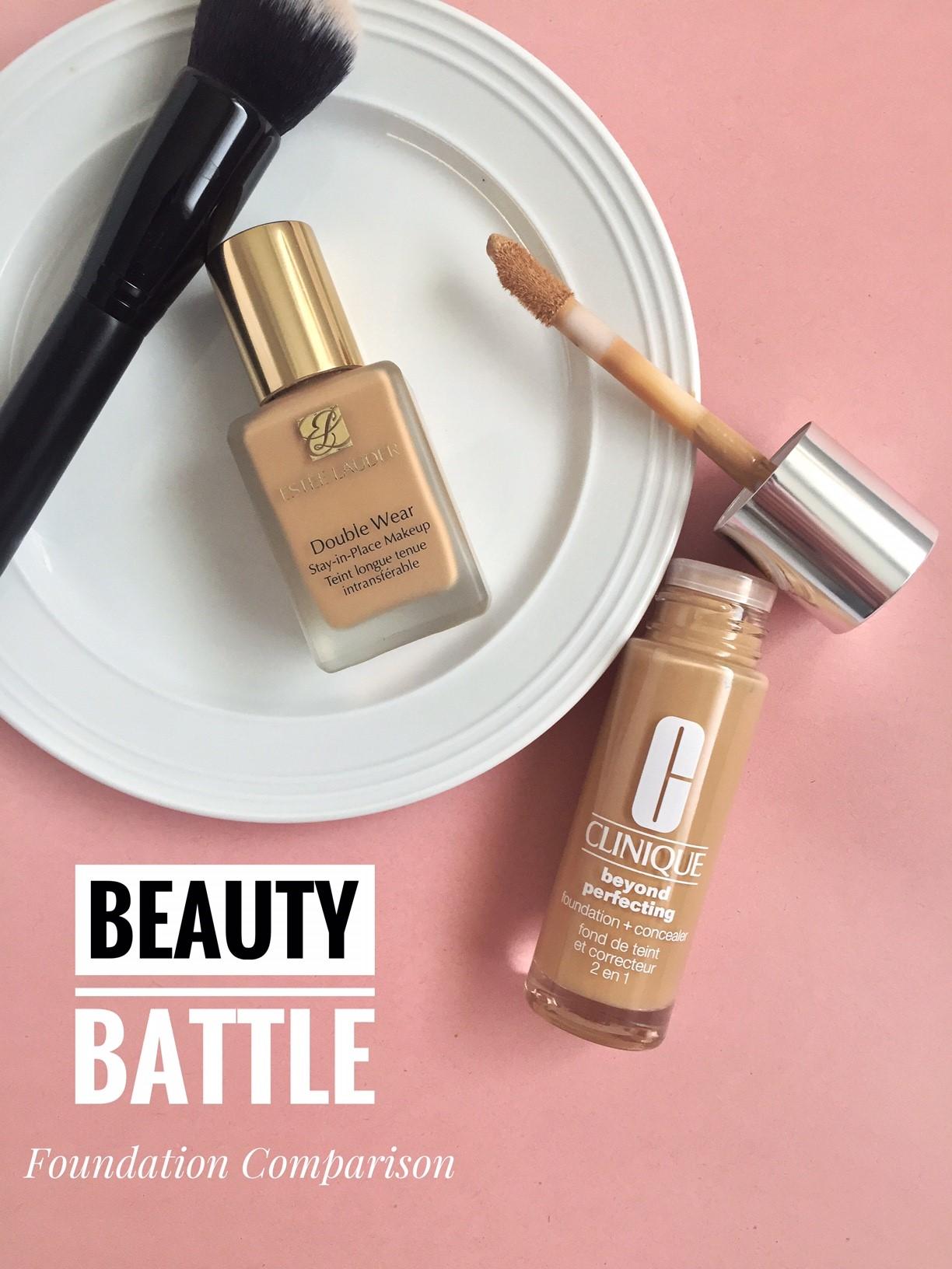 Beauty Battle Estee Lauder Double Wear Tawny 3w1 Vs Clinique Beyond Perfecting 08 Golden Neutral Review Comparison Views In Pixels